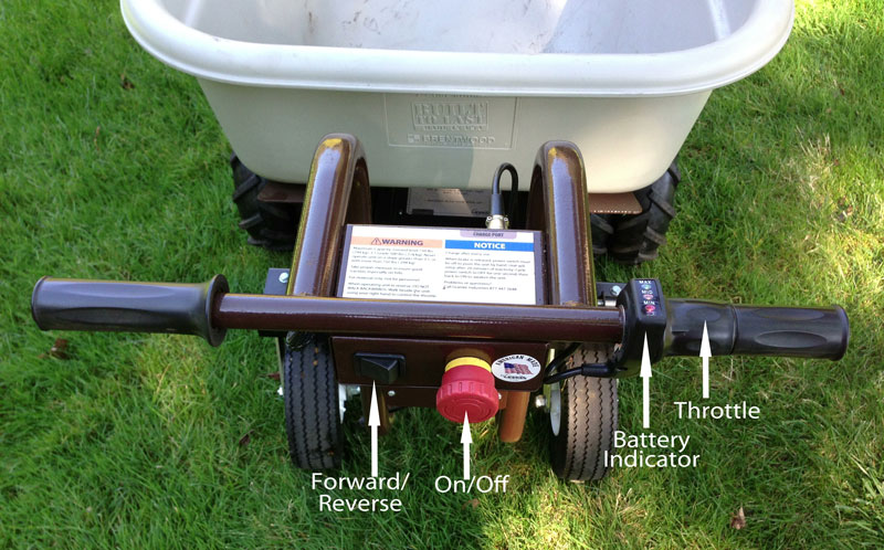 Electric Wheelbarrow controls